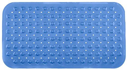 Brandsseller -Tapis de Baignoire de Bain 70x38cm Anti Glisse avec Ventouse Bleu Transparent