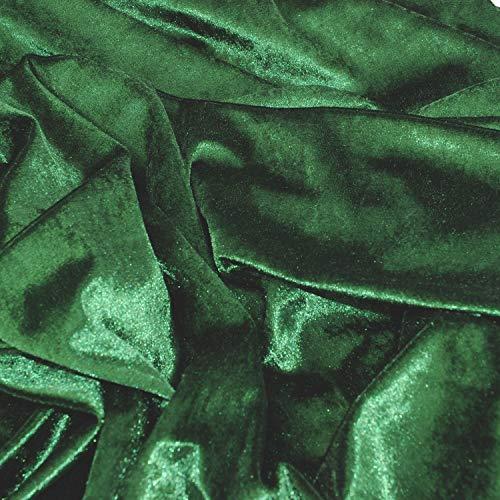 Tela de terciopelo elástico para disfraces y manualidades por el patio, Verde, 1 yd