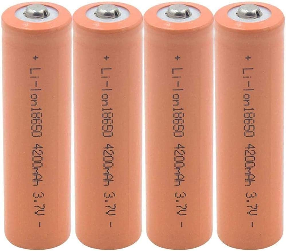Rechargeable Battery 4Pcs 18650 3.7 4200Mah Free shipping / New V Lithium Ce Ranking TOP16