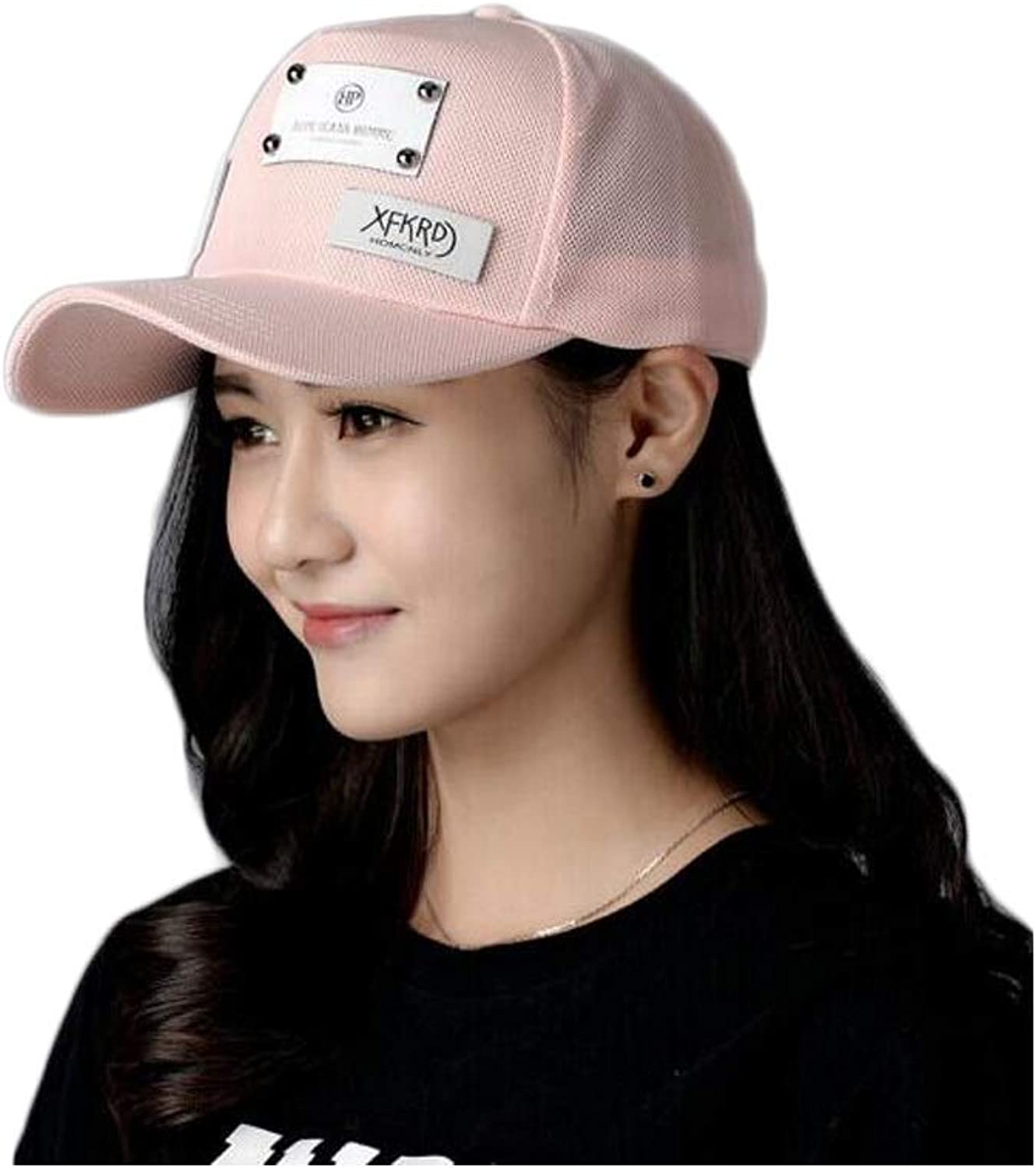 8haowenju Hat, Fashion Female Dome Baseball Cap, Outdoor Sports Cap, Pink Black White 14  7.5CM, Perimeter 5559CM, The for Friends and Family Suitable for Young Adults