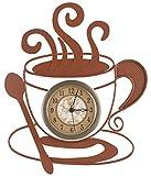Fox Valley Traders Metal Coffee Clock