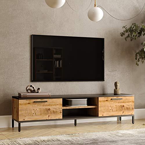 Yurupa TV Lowboard,Fernsehtisch,Unterschrank,Fernsehschrank,TV Schrank,TV Tisch,TV Möbel,TV Board,Büro,Arbeitzimmer,Wohnzimmer,RL1-AA