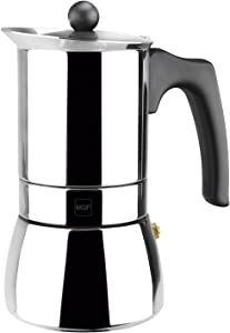 MAGEFESA Genova – The MAGEFESA Genova coffee maker is made of 18/10 stainless steel, compatible with all types of cooking, easy to clean (10 cups)