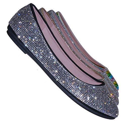Top 10 best selling list for crystal embellished flat shoes