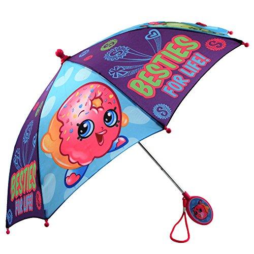 Kids Umbrella for Girl's, Shopkins Children's Rainwear, for Ages 3-6