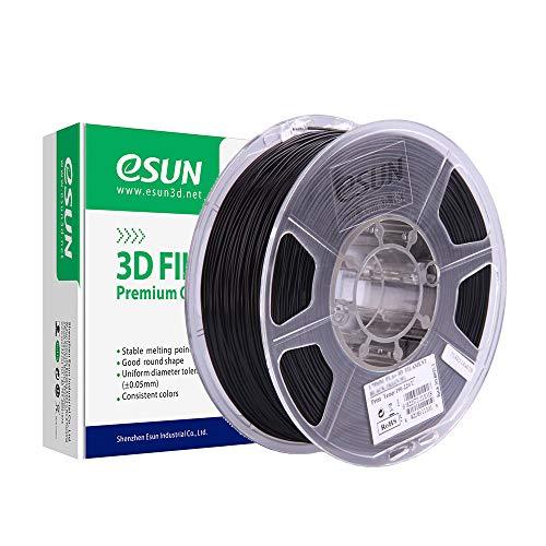 eSUN PLA+ Filament 1.75mm, PLA Plus 3D Printer Filament, Dimensional Accuracy +/- 0.03mm, 0.5KG (1.1 LBS) Spool 3D Printing Filament for 3D Printers, Black