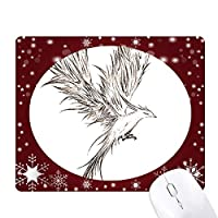 猿子スケッチfuying鳥不死鳥の絵 オフィス用雪ゴムマウスパッド