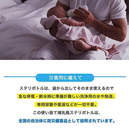 ClovisBaby(クロビスベビー)【日本正規品】ステリボトル消毒不要使い捨て哺乳瓶(240ml)5個入り