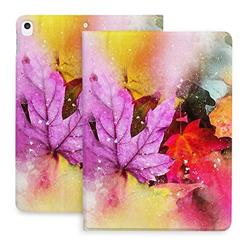 Sweet grape Funda para iPad 2020 de 10,2 pulgadas con lápiz, diseño de hojas de la naturaleza arte abstracto acuarela vintage, soporte trasero protector de cuerpo completo TPU