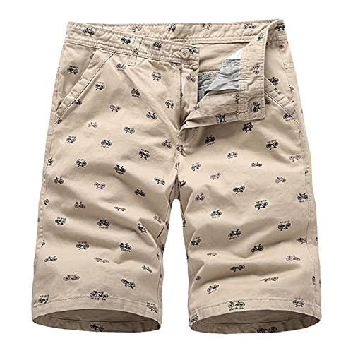 Pantalones Cortos para Hombre de Verano Deportes para Hombre Impresión Informal