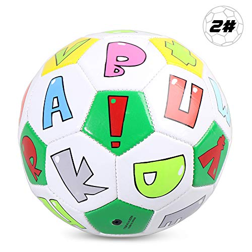 Tidyard Size 2 Kids Soccer Ball Inflatable Soccer...