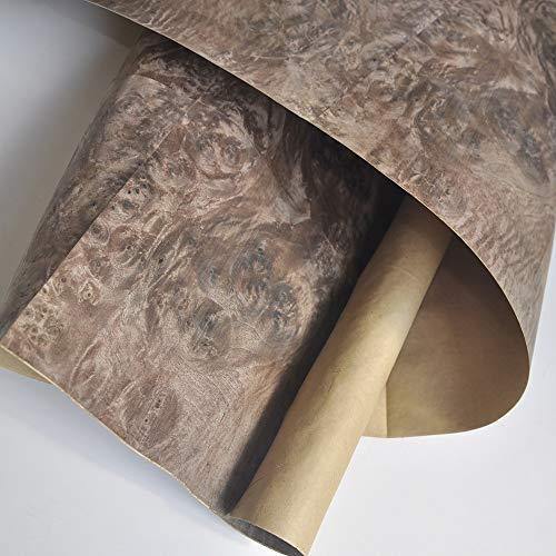 NUJA 1 st valnötsborrning med hantverkspapper träfaner naturligt träfanér båtdäck gitarr (färg: Valnötsburl)