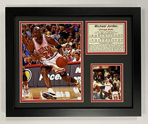 Michael Jordan - White Jersey 11' x 14' Framed Photo Collage by Legends Never Die, Inc.