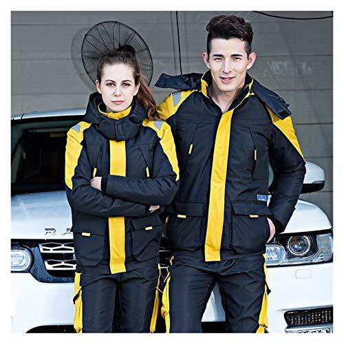 Ropa de trabajo Ropa de mantenimiento Monos de invierno Algodón acolchado femenino de reparación de automóviles Traje de trabajo Trabajo de hombre Uniforme ( Color : Yellow sets , Size : Large )