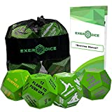 4-Pack Exercise Dice Bundle with Fitness Manual & Bag | Perfect for HIIT, Cardio, Yoga, Stretching, Strength Training, Sports, Crossfit, Plyometrics, Body Weight, Group Class, All Ages, WOD