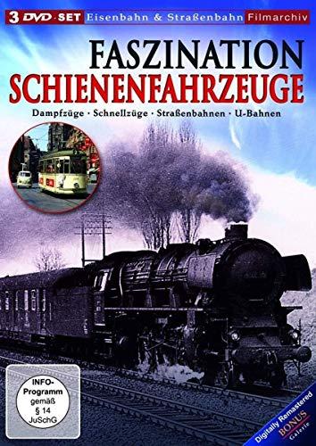 Faszination Schienenfahrzeuge: Dampfzüge - Schnellzüge - Straßenbahnen - U-Bahnen [3 DVDs]