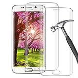 [2 Piezas] Película Protectora de Vidrio Templado para Samsung Galaxy S6 Edge, [Anti-Bubble], [Dureza 9H], [Touch Sensitive], Protector de Pantalla para Samsung Galaxy S6 Edge-Transparente
