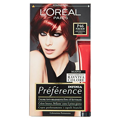 Haarfärbemittel permanente Farbe Recital Preference N P 46 Pure Ruby