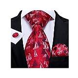 NXYJD Nuevo diseño de Bodas para Hombres Corbatas Corbatas para Hombres Businesshanky Gemelos Set (Color : C)