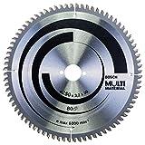 Bosch 2 608 640 516 - Hoja de sierra circular Multi Material - 250 x 30 x 3,2 mm, 80 (pack de 1)
