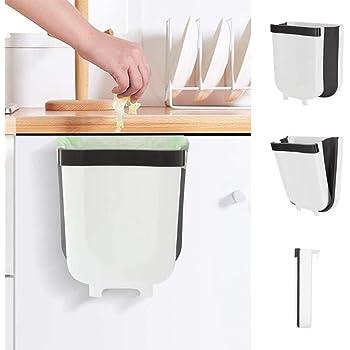 YONEER Cubo Basura Cocina de la Cocina Bote de Basura Colgante Bote de Basura Plegable Cubo Basura Extraible: Amazon.es: Hogar