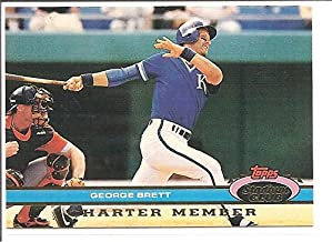 George Brett Kansas City Royals 1991 Topps Stadium Club Charter Member Baseball Card