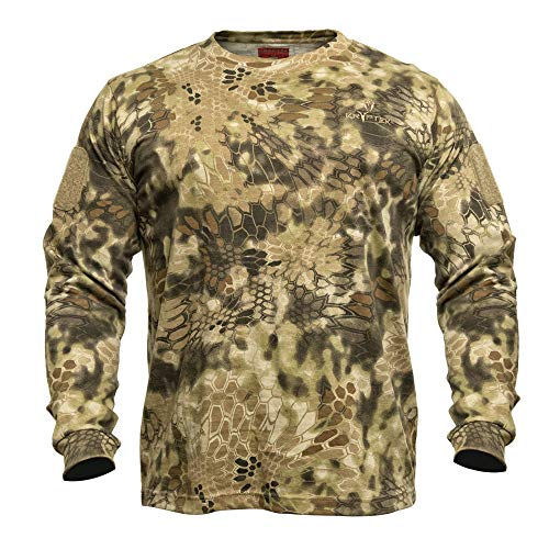 Kryptek Men's Standard Stalker Long Sleeve, Highlander, XL