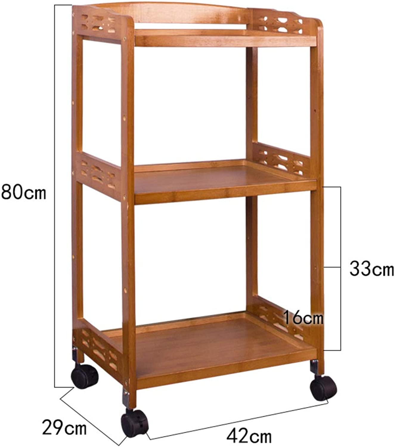 Kitchen Dining Rolling cart,Movable Dining car Racks Seasonings Storage Rack Household Kitchen Storage cart for Living Room-A