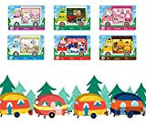 6pcs Animal Crossing New Horizons ACNH Sanrio Mini Card, Villager Furniture Outfits Compatible with Switch/Switch Lite/New 3DS- Rilla, Marty, étoile, Chai, Chelsea, Toby (Big Cards)