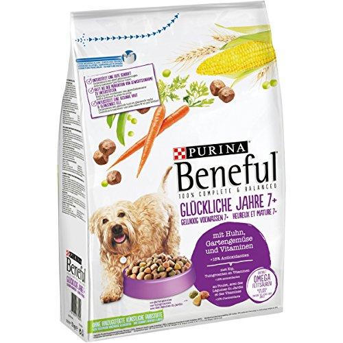 Purina Beneful Hundetrockenfutter Glückliche Jahre 7+ (mit Huhn, Gartengemüse und Vitaminen) 4er Pack (4 x 3kg) Beutel