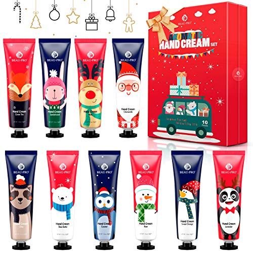 Set de 10 Crema de Manos, Crema Hidratante Corporal con 10 Fragancias, Crema de Manos Reparadora, Juegos para el Cuidado de la Piel, Regalos Originales para Mujer, Hombre, Niños, Navidad, Cumpleaños