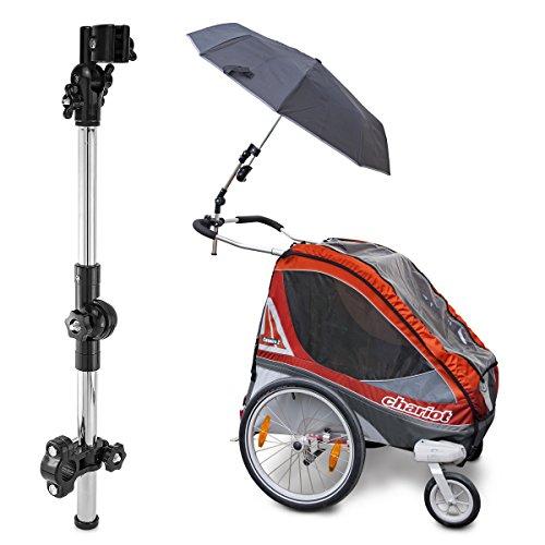 Schirmhalter mit einem Gelenk für Fahrrad, Rollstuhl, Kinderwagen, Angeln, Golftrolley, Rollator usw.
