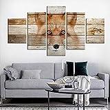 Cartel Grande de 5 Paneles Impreso en HD Enmarcado Listo para Colgar Sala de Estar Dormitorio Decoración del hogar Pinturas Cuadros Modernos Ciudad de Londres 5 Piezas Lienzo Arte de la Pared Impresi