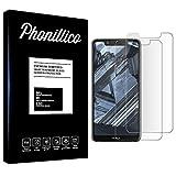 PHONILLICO [Pack de 2] Verre Trempe Nokia 5.1 Plus - Film Protection Ecran Verre Trempe [Lot de 2]...