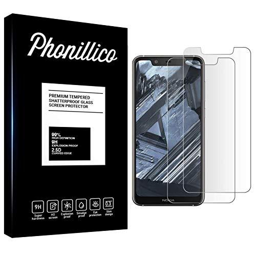 PHONILLICO [Pack de 2] Verre Trempe Nokia 5.1 Plus - Film Protection Ecran Verre Trempe [Lot de 2] Vitre Ecran Protecteur Anti Rayure sans Bulle d'Air Dureté 9H Ultra Mince Transparent