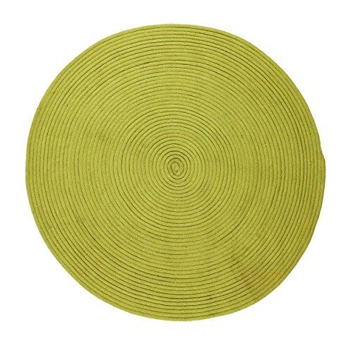 Thedecofactory 121814 Anis D120 - Alfombra (algodón, 120 x 120 x 1,5 cm), Color Gris