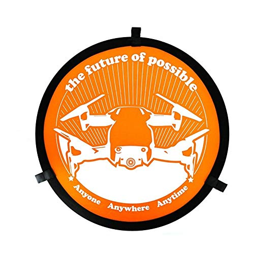 Drone accessories Landing Parking Apron Pad Helipad Waterproof Foldable 55cm Compatible with DJI Mavic Propeller Guards Protectors (Color : Orange, Size : One size)