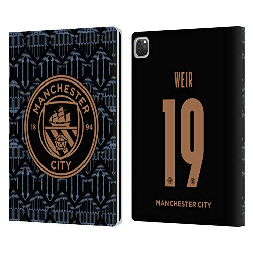Official Manchester City Man City FC Caroline Weir 2020/21 Women's Away Kit Group 1 Leather Book Wallet Case Cover Compatible For Apple iPad Pro 12.9 (2020)