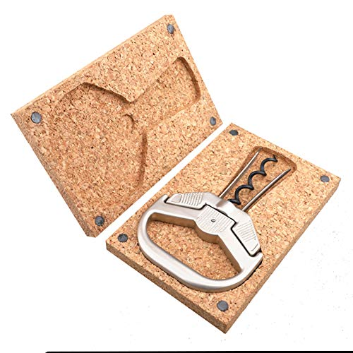 FSGD Wine Bottle Opener, Two-Prong Cork Puller with Box, Durable Zinc Alloy for Vintage Wine, Anniversaire, bar, Party, Best Gift for Wine Lover