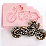Motorcycle Silicone Mold Food Safe Fondant, Chocolate, Candy, Resin, Polymer Clay Mold. Flexible easy to use. Jewelry, Craft or Food Mold.