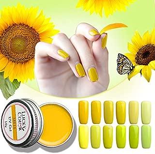 Generic M045: Vibrant Yellow Serise Gel Varnish With Brush Soak Off LED UV Nail Polish Art Long Lasting Lacquer Manicure Beauty 10g Box