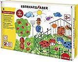 Eberhard Faber 578806 - EFA Color Fingerfarben-Set mit 6 Farbtöpfchen zu je 100 ml, schnelltrocknend und auswaschbar, zum Mischen und für kreativen Malspaß