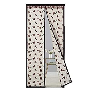 Rails Cartoon Light-Colored Bear Pattern Front Door Curtain Thermal 110x220cm/43.3×86.7in Heavy Door Curtain for Nursery,Children Kids Bedroom Or Travel Use