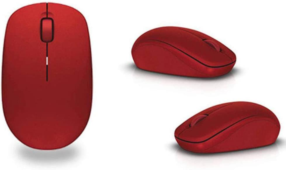 Mouse 2.4G Optical Wireless Mouse 10PCS Home Business USB Wireless Mouse Ergonomics red