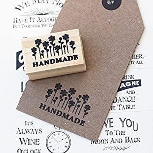 Customer reviews Handmade With Flowers Design Wooden Rubber Stamp / Craft / Scrapbooking:Kisaran