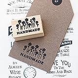 Handgefertigt mit Blumen Design Holz Gummi Stempel/Craft/Scrapbooking