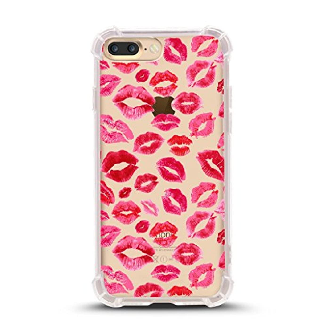 iPhone 7 Plus Shock Absorbent Case (5.5 inch screen), lips prints pattern Design