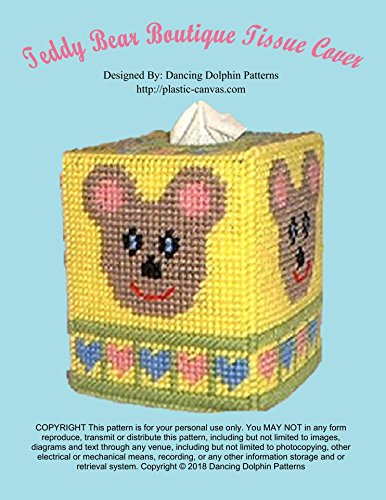 Teddy Bear Boutique Tissue Cover: Plastic Canvas Pattern (English Edition)