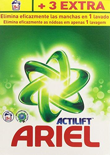 Ariel Actilift Waschmittel für Waschmaschine, 28+ 3Messbecher, 2.015kg–[2er Pack].