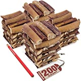 ValueBull New Bully Sticks for Dogs, Thick 3-4 Inch, 200 Count - All Natural Dog Treats, 100% Beef Pizzles, Single Ingredient Rawhide Alternative